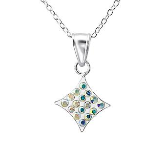 Square - 925 Sterling Silver Halsband - W23582x