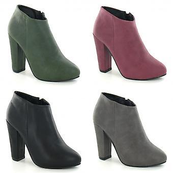 Anne Michelle Womens/Ladies Zip Fastening High Heel Ankle Boots