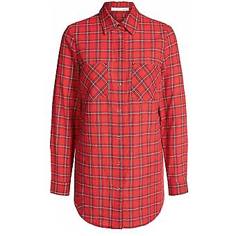 Oui Red Check Shirt