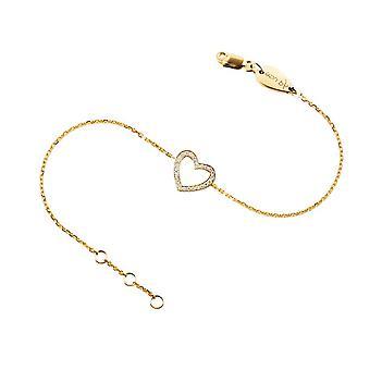 Baby Bracelet Precious Heart 18K Gold and Diamonds
