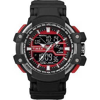 Tw5M22700, Timex Men'S Tw5M22700 Tactic Dgtl Big Combo Black/Gray/Red Resin Strap Watch