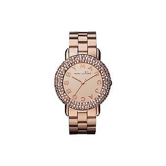 Marc by Marc Jacobs Rose Gold Tone Stainless Bracelet Women's Watch - MBM3192