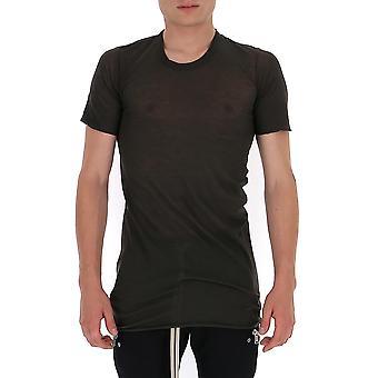 Rick Owens Ru20f3251uc78 Men's Grey Cotton T-shirt