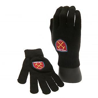 West Ham United Knitted Gloves Junior