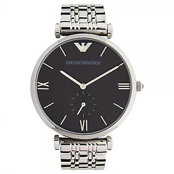 Armani Ar1676 Mens Black & Stainless Steel Watch