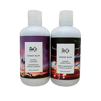 R + CO Sunset Blvd Blonde Shampoo & Conditioner 8.5 OZ. Each