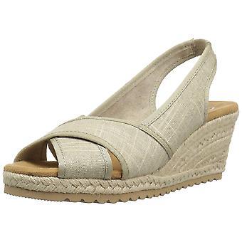 Skechers Womens Monarchs- Cali Chill Fabric Peep Toe Casual Slingback Sandals