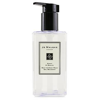 Jo Malone Poppy & Barley Body & Hand Wash (Com bomba) 250ml /8.5oz