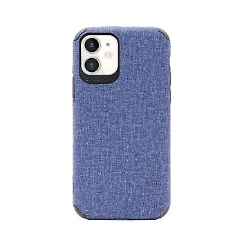 For iPhone 11 Case Fabric Texture Denim Slim Fashionable Protective Cover Blue