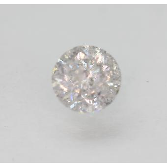 Certified 0.74 Carat H Color Round Brilliant Enhanced Natural Diamond 5.45mm