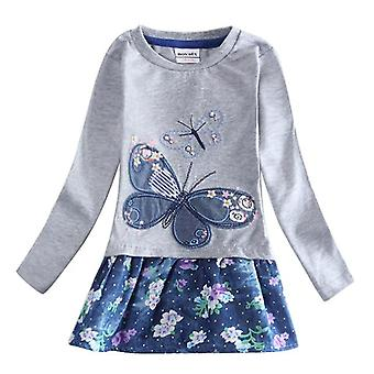 Long Sleeve Girls Dress , Butterfly, Infant