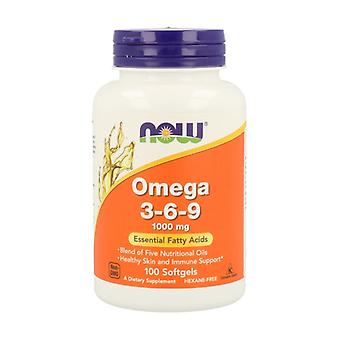 Omega 3-6-9 1000mg Only Vegetable Origin 100 softgels of 1000mg