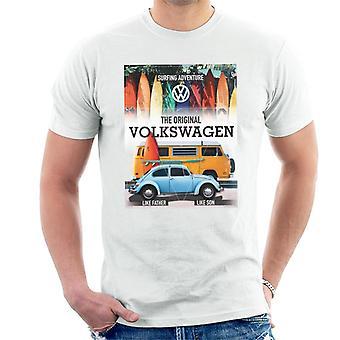 Volkswagen surfen avontuur kever & camper mannen ' s T-shirt