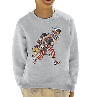 The Saturday Evening Post Liberty Girl Norman Rockwell Kid's Sweatshirt