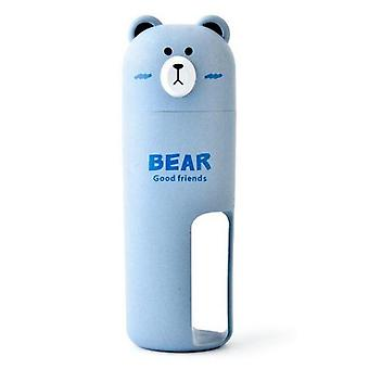 Portable Bear Travel Toothbrush Organizer Set Towel Wash Gargle Cup