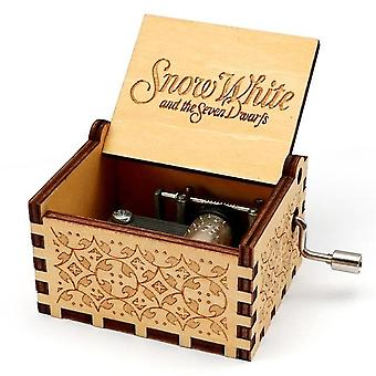 Snow White And The Seven Dwarfs Theme-wooden, Engraved Music Box