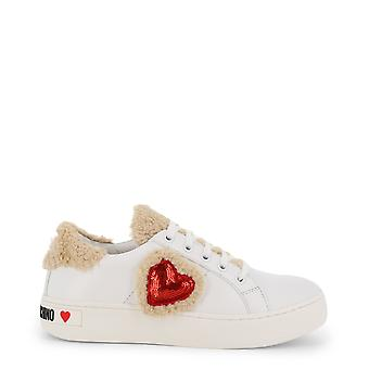 Love moschino ja15543 women's synthetic leather sneakers