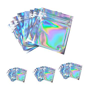 One Side Clear And Other Holographic-mini Aluminum Flat Zip Lock Bags