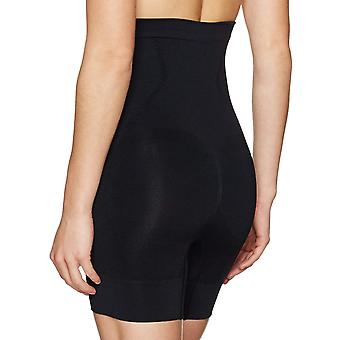 Arabella Women's Seamless Waist Shaping Thigh Control Shapewear, Nero, X-Large