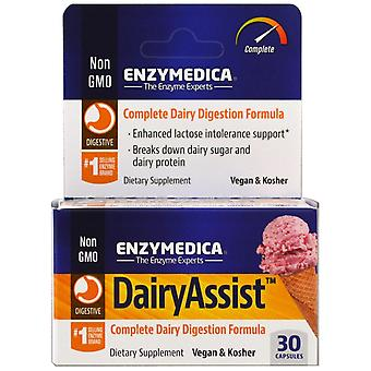 Enzymedica, DairyAssist, 30 Capsules