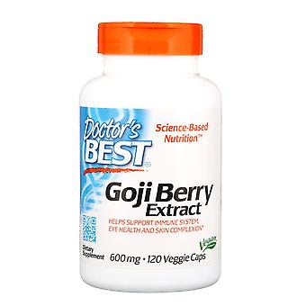 Doctor's Best, Goji Berry Extrakt, 600 mg, 120 vegetarische Kapseln