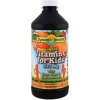 Dynamic Health  Laboratories, Liquid Vitamin C for Kids  Natural Citrus Flavors,