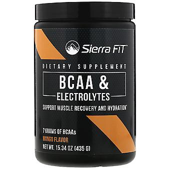 Sierra Fit, BCAA & Electrolytes, 7G BCAAs, Mango, 15.34 oz (435 g)