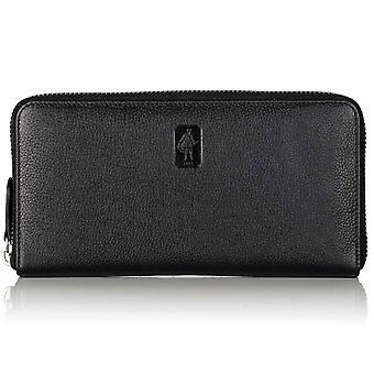Black Malvern Leather Zip Wallet