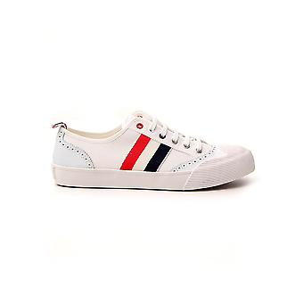 Thom Browne Mfd140a01588100 Heren's White Fabric Sneakers