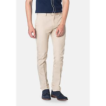 Pantalon Chino Winston Beige Sta Press