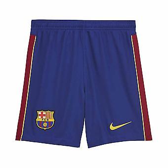 2020-2021 برشلونة المنزل نايكي لكرة القدم شورت (الأزرق)