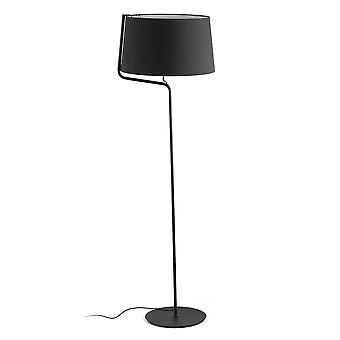 1 lichte vloerlamp zwart, E27
