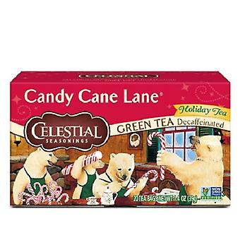 Celestial Seasonings Tea Candy Cane Lane Decaffeinated Green Tea