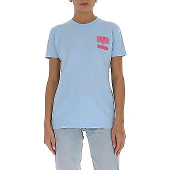 Chiara Ferragni Cft095lbl Femmes-apos;s Light Blue Cotton T-shirt