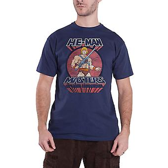 Masters Of The Universe T Shirt He Man Sword nieuwe Officiële Mens Blue