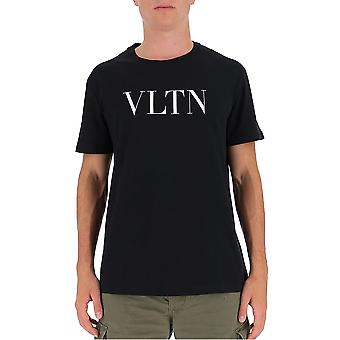 Valentino Uv3mg10v3le0no Hombres's Camiseta de Algodón Negro