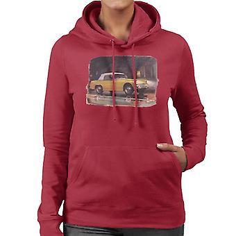 Austin Healey Yellow British Motor Heritage Women's Hooded Sweatshirt
