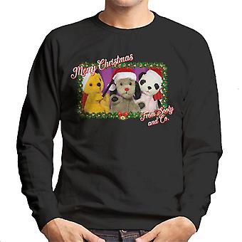 Sooty Christmas Merry Xmas From Sooty And Co Men's Sweatshirt