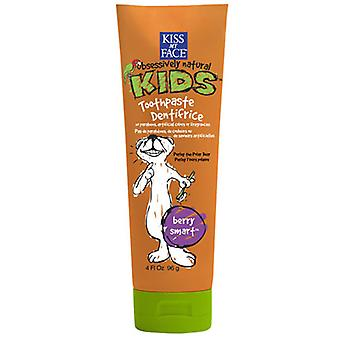 Kiss My Face Berry Treasure Toothpaste without Flouride, 4 OZ