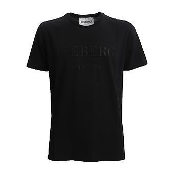 Iceberg F01463319000 Men-apos;s Black Cotton T-shirt