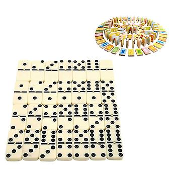 Learning Educational Dot Chess Game Classic Toy Travel Portable Entertainment Double Six For Kids Gift Funny Dominoes