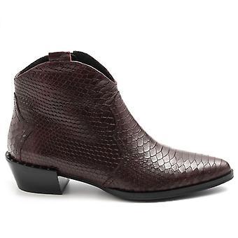 Sangiorgio Bordeaux texasi boka boot python bőr