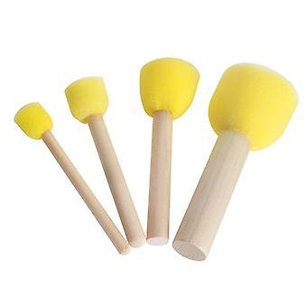 Diy Sponge Paint Brushes Stick Drawing Tools