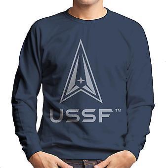 U.S. Space Force Darker Logo USSF Darker Text Men's Sweatshirt