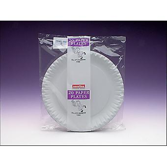 Caroline Paper Plates White 9in x 20 1402
