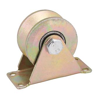 882Lbs Capacity 59mm 45# Steel Groove Rigid Caster Wheel with Steel Bear