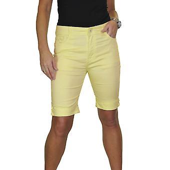 Women's Smart Stretch Chino Shorts السيدات الصيف سليم صالح فوق الركبة الجينز نمط برمودا السراويل 10-20