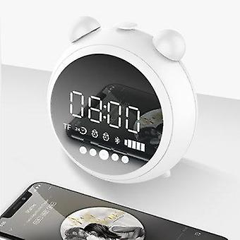 [bluetooth 5.0] Portable Wireless bluetooth Speaker Dual Alarm Clock LED Display