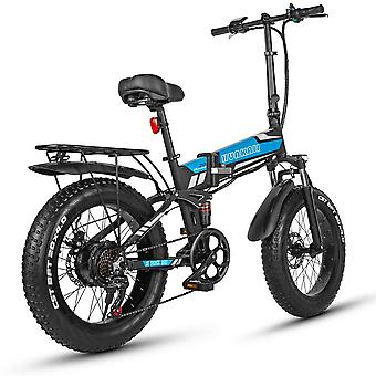 Pedal Assisted Rechargeable Bicycle Folding Ebike 500w 48v 12.8ah 20 Inch Fat