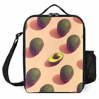 Avocado Fruit Potrait Printed Lunch Bags Insulated Lunch Box